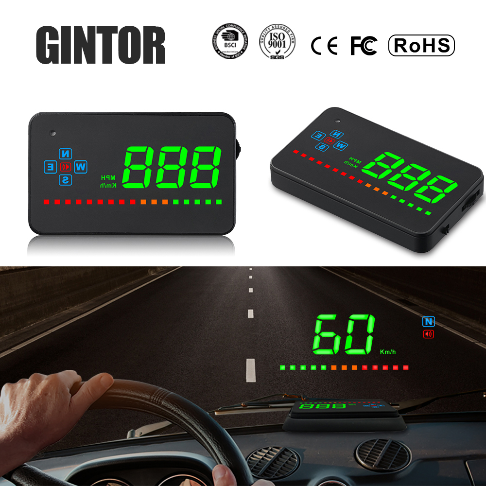 Head Up Display Car A2 Hud Gps Speedometer Car Electronics Pantalla Auto Windshield For Car Bike Motorcycle Auto Accessories