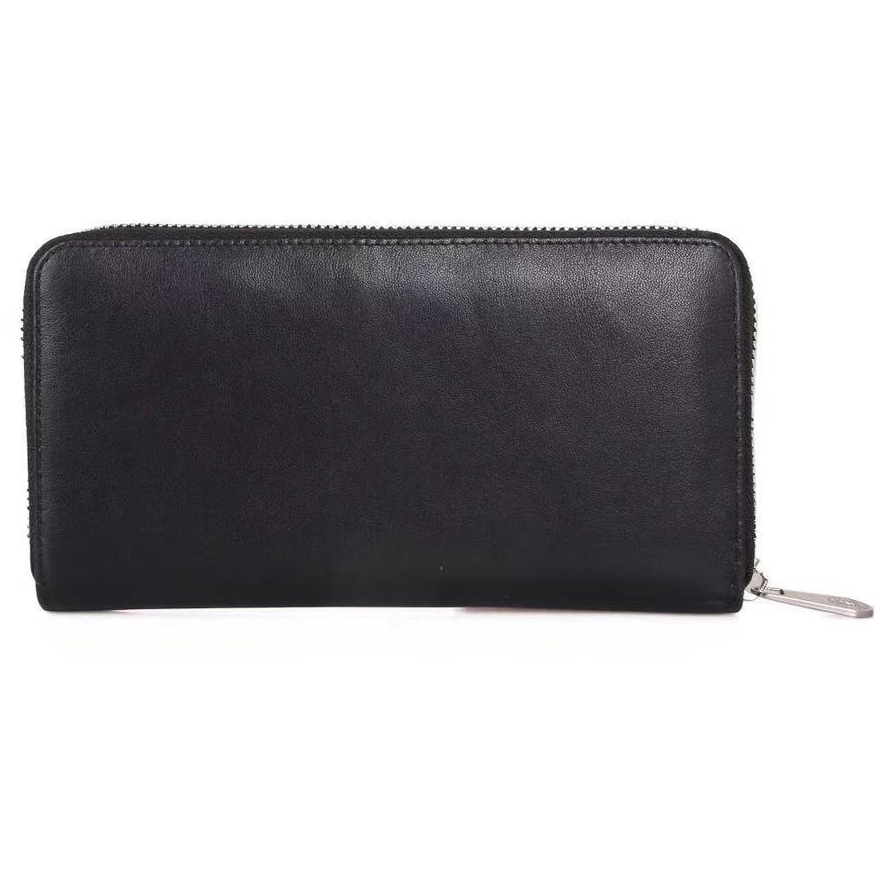 Brand Man Luxury Long Zipper Wallet Genuine Leather City Jogging Bags