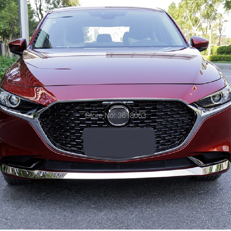 For 2019 2020 <font><b>Mazda</b></font> <font><b>3</b></font> Front <font><b>Engine</b></font> <font><b>Cover</b></font> Decoration Trim Bumper Frame Car Styling External Accessories image