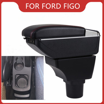 Car Armrest For Ford Figo/Freestyle/Endeavour Car Accessories Console Box Center Arm Rest With Cup Holder Ashtray Storage Box upgraded car styling car arm rest accessories accessory mouldings protector automobiles armrest box 02 03 04 for chevrolet sail