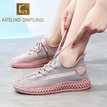 KATELVADI Women Sneakers Casual Shoes 2020 Brand New Breathable Low Top Tennis SP004