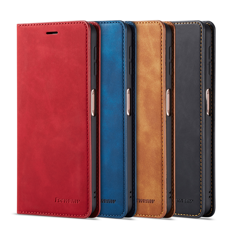 Leather Flip A51 A71 A81 A91 A50 A70 S A40 A20 A10 Case For Samsung S9 S8 S7 Magnet Cover 5