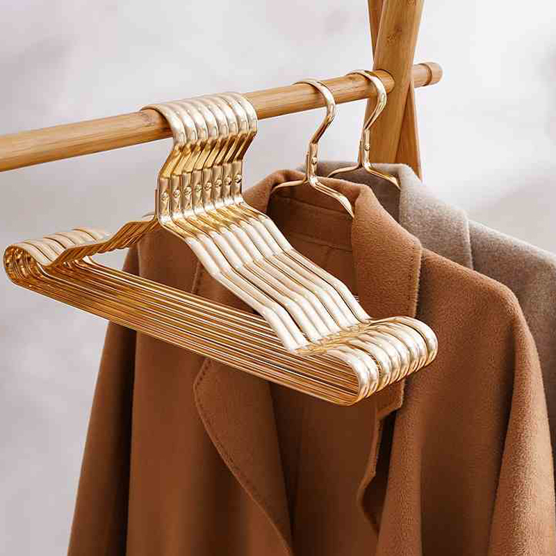 Clothes Rack 10Pcs Metal Clothing Hangers Anti slip Aluminium Alloy Drying Rack Wardrobe Space Saver Coat Hanger Organizer Rack