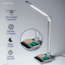 LED Desk Lamp 72 bulb 3 Color Hand Sweep Wireless Charging for phone 360 Degree Rotation Touch Eye-protect with timer Table lamp