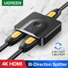 Ugreen 4K/30Hz HDMI Switch Switcher Ultra HD Video 1 in 2 Out HDMI Splitter Adapter Converter for DVD HDTV Xbox PS4 HDMI Cable