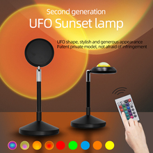 Sunset Projection Light Projector USB Led Lamp Night Light Atmosphere Colorful Lamp Decoration For Home Bedroom Wall Decor cheap NoEnName_Null Round CN(Origin) Night Lights 6-10W Led Sunset Project Lamp Sunset Projector Interior lighting Room Table Lamp