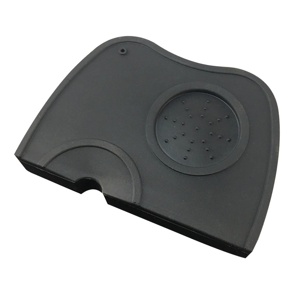 Coffee Pressure Pad Non-slip Filling Corner Mat Espresso Making Tools Black Full Silicone