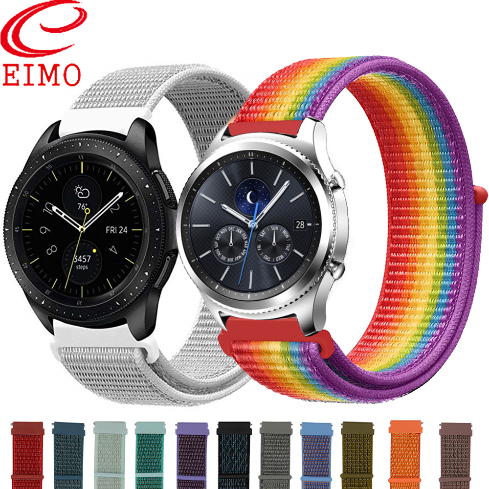 Galaxy Watch Band per Samsung Galaxy Watch 46 Millimetri 42 Millimetri Attivo <font><b>2</b></font> Gear S3/<font><b>Huawei</b></font> Watch <font><b>Gt</b></font> <font><b>2</b></font> Cinghia 20 22 millimetri di Sport di Nylon Loop Banda image