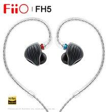 FiiO FH5 Quad נהג היברידי HIFI ב אוזן אוזניות מוניטורים עם נואלס מאוזן אבזור נהגים להסרה כבל MMCX