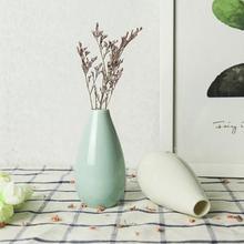 Классическая домашняя садовая Балконная керамическая ваза для цветов, Настольная декоративная ваза