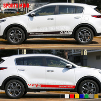 1 Pair Sports mind Vinyl Door Car Sticker Decal Automobiles Car Styling For KIA Sportage Exterior Accessories