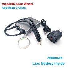 MinderRC regulowana 9 biegów Mini maszyna do zgrzewania punktowego z szybkozłączką taśma niklowa 18650 zgrzewarka akumulatorowa zgrzewarka punktowa