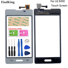 """4.0"""" Mobile  Touch Screen Digitizer For LG Optimus L5 II 2 E450 E460 Touch Panel Lens Front Glass Sensor Parts"""