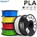 Noulei 3D yazıcı Filament PLA 1.75mm 1KG renkli yüksek kaliteli plastik baskı malzemesi 6 renk beyaz siyah