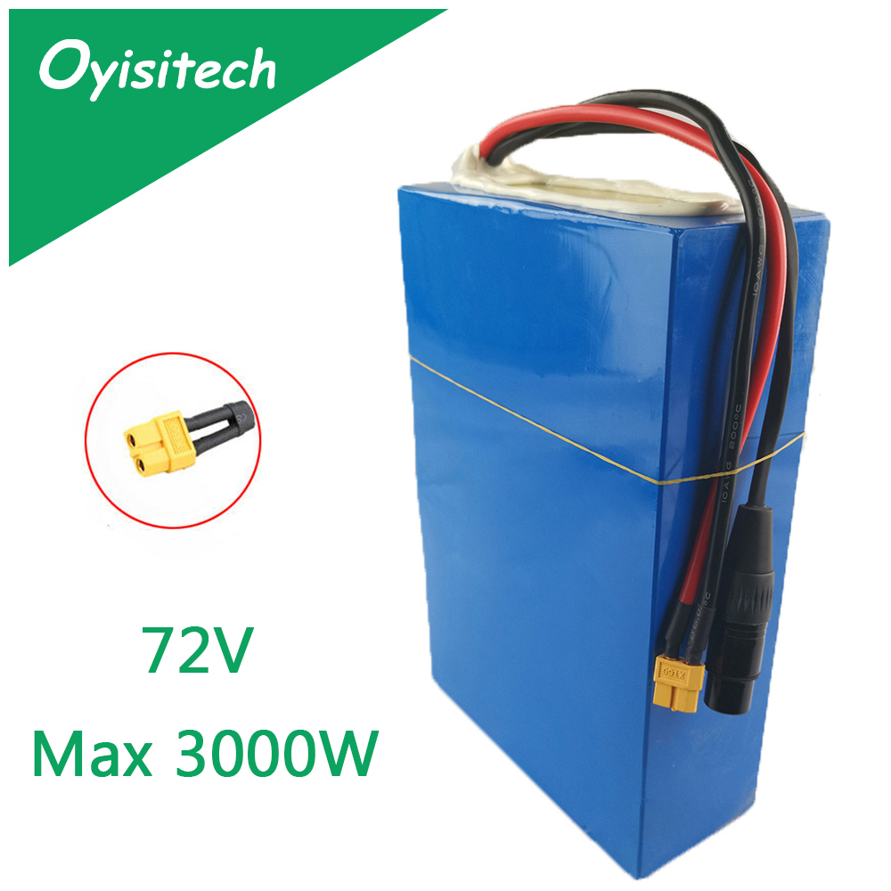 <font><b>72V</b></font> <font><b>40Ah</b></font> Max 3000W Ebike <font><b>Battery</b></font> <font><b>Lithium</b></font> ion <font><b>Battery</b></font> <font><b>72V</b></font> 25Ah 30Ah with 40A 60A BMS Pack <font><b>Battery</b></font> akku For Electric Bike Scooter image