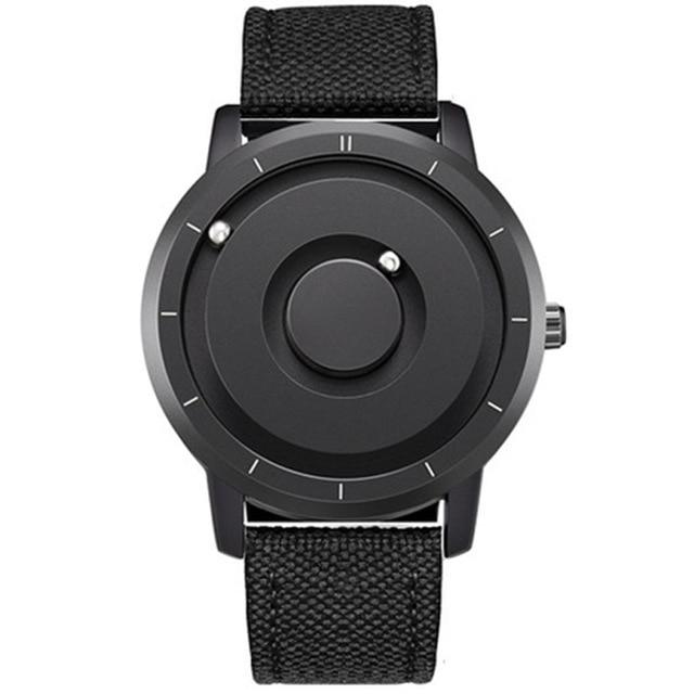 EUTOUR New Innovative Blue Gold Magnetic Metal Multifunctional Watch Men's Fashion Sports Quartz Watch Simple Men's Watch 19
