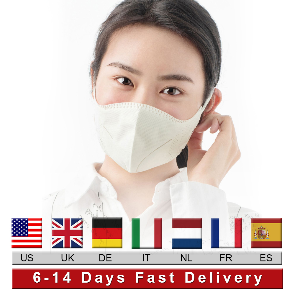 Reusable Mask Meltblown Cloth Non Disposable Masks 99% Filter Dust Particulate Respirator Earloop Face Masks