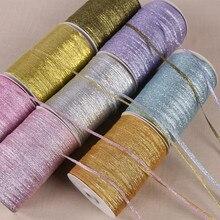 3mm de colores con brillos cinta de cebolla purpurina Navidad boda pastel de decoración Paquete de caja de caramelos envoltura cebolla tela cintas accesorios DIY