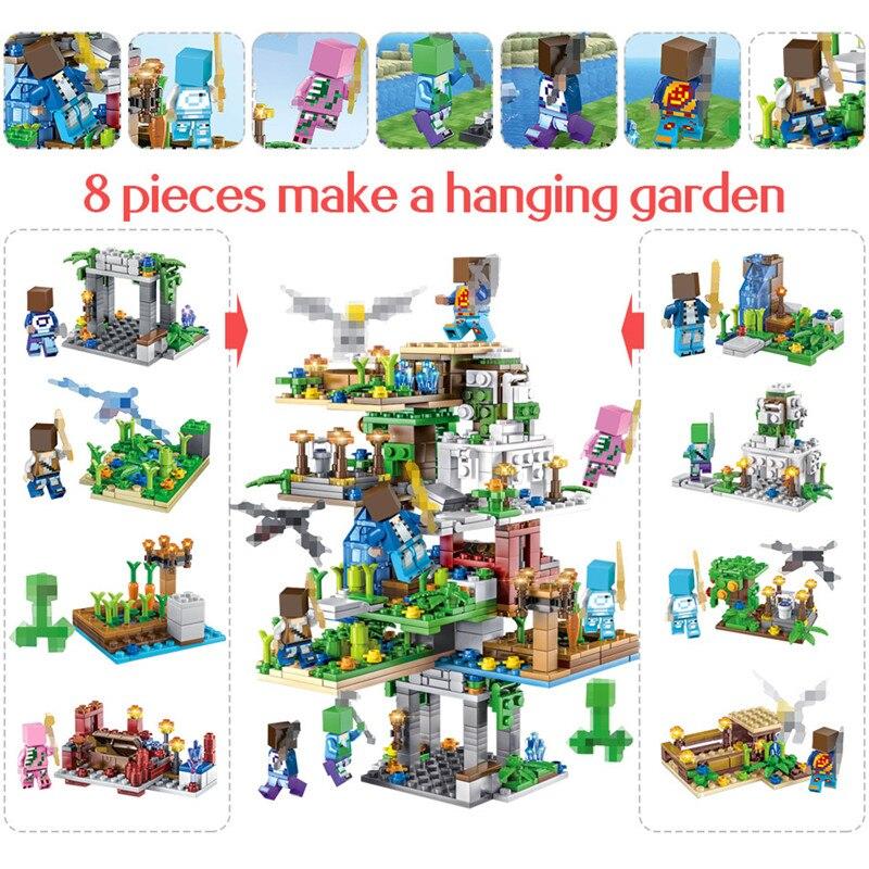 "\""690PCS-My-World-Creator-Hanging-Garden-Tree-House-Legoing-Mountain-Cave-21137-Building-Blocks-Figure-Bricks"