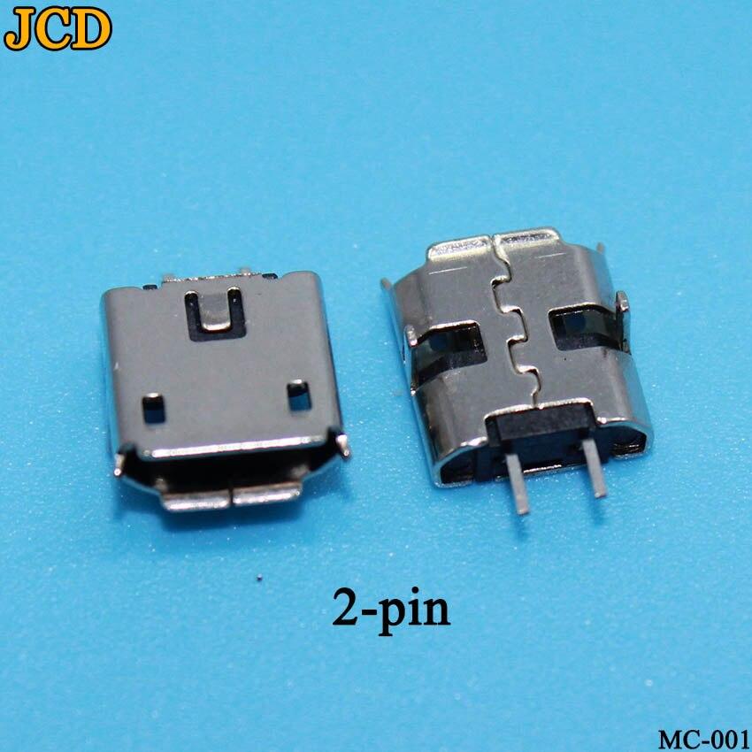 JCD 10pcs Micro USB 2pin B Type Female Connector For Mobile Phone Micro USB Jack Connector 2 Pin Charging Socket