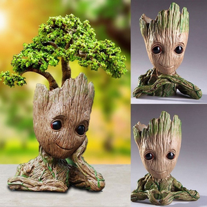 The Avengers Action Figures Guardians Galaxy Flower pot Baby Flowers pot Grooting Toy Figures Garden Flower Planter Pot For Kids(China)