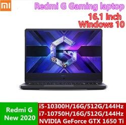 Xiaomi Redmi G Gaming Laptop 16.1 Inch Intel Core i5/i7 Processor GTX️1650/GTX1650Ti GPU 16G DDR4 512G SSD 100%sRGB Mi Notebook