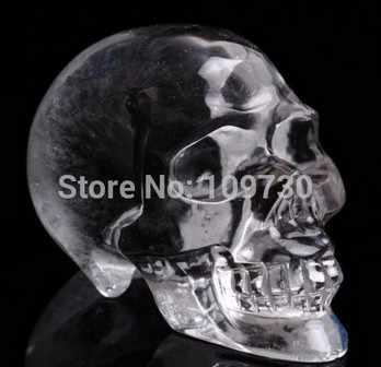 YM 328 AA Mooie Natuurlijke White Crystal Skull, Realistisch, Genezing