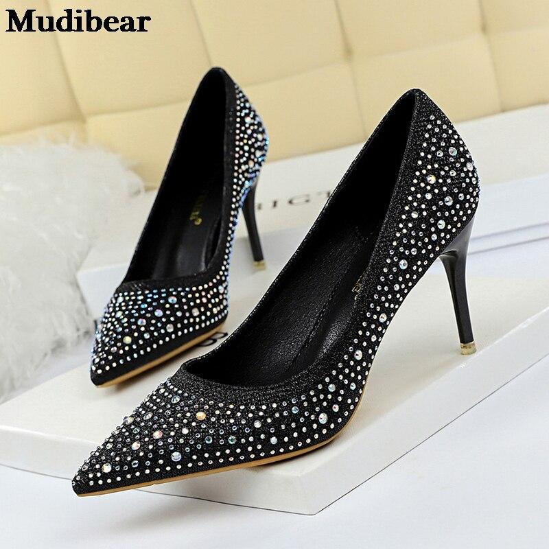 Купить mudibear/2020 для женщин женские туфли лодочки на очень высоких