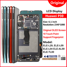 AAA + Fingerprint LCD Für Huawei P30 ELE-L29 L09 L04 AL00 LCD Display 10 Berührt Bildschirm Für Huawei P 30 p30 Display Ersatz