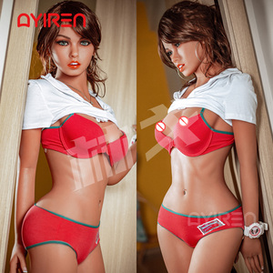 AYIREN 158cm Japanese Sex Doll Sexy Breast Silicone with skeleton Sex Love Doll Lifelike Oral Vagina Pussy Anal Adult Doll
