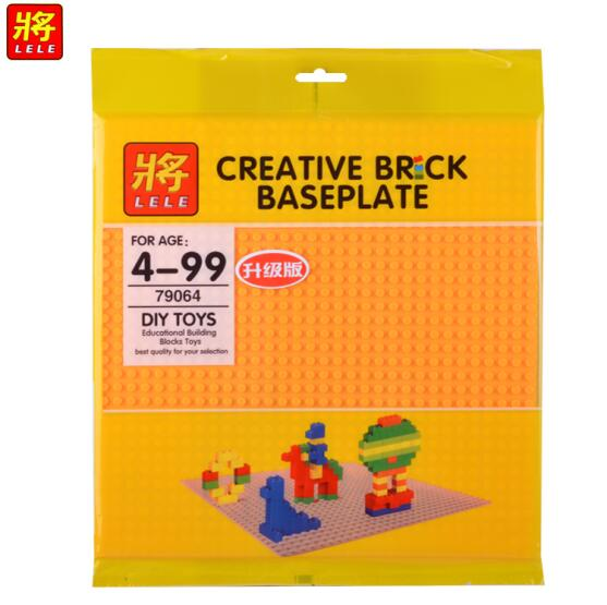 Free Gift Figures 4PCS Thick Double Side Baseplate 32 32 Particles 25 5 25 5cm LegoINL Bricks Base Plate Educational Toys in Blocks from Toys Hobbies