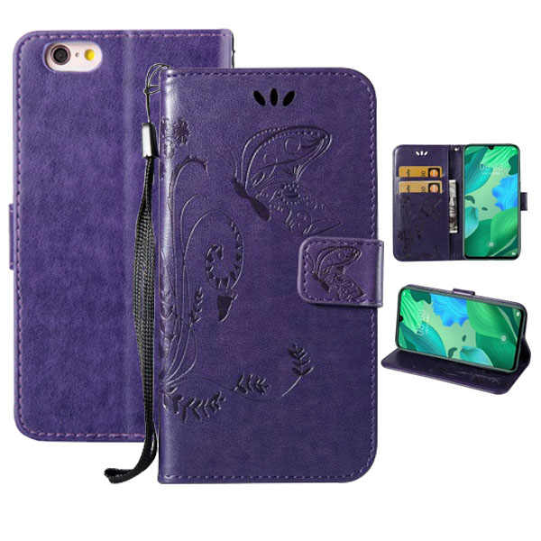Funda abatible de cuero PU de calidad superior con mariposa para DEXP G250 GL255 Ixion XL150 AS160 Z355 BS550