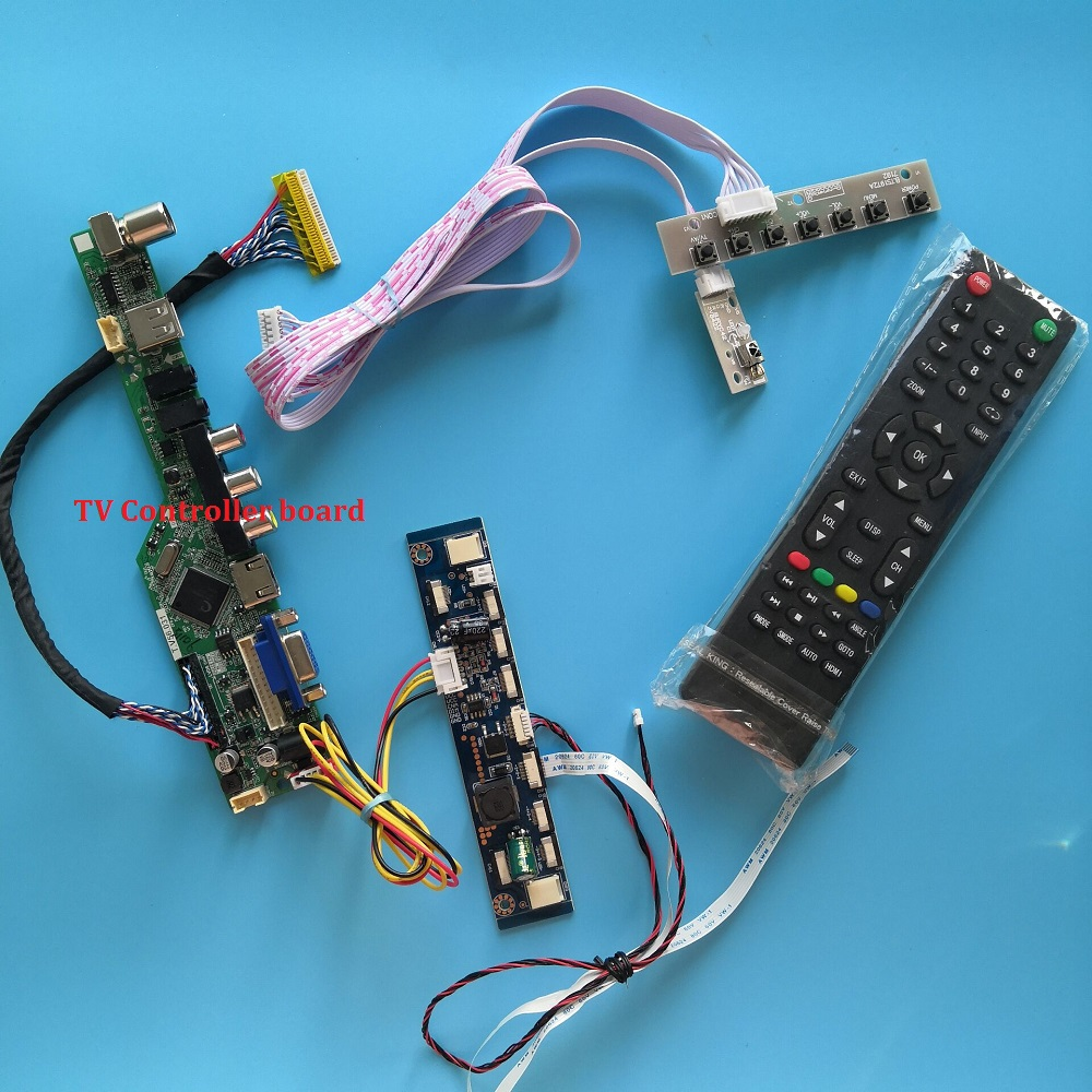 Controller Board Kit For M240HW01 1920X1080 Panel Screen 24 Inch DIY USB CVBS VGA HDMI LED LVDS 30pin TV AV LCD