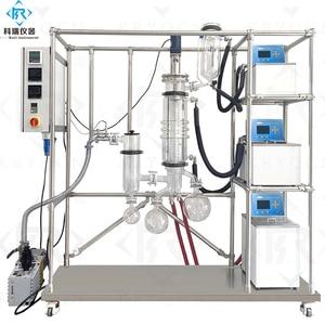 Лабораторная стеклянная посуда дистилляционный аппарат/промышленная Лаборатория Стекло протертая пленка молекулярная дистилляционное о...