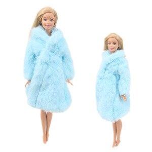 Image 5 - 15 نوع جودة عالية الملابس المصنوعة يدويا فساتين ينمو الزي الفانيلا معطف لفستان دمية باربي للفتيات أفضل هدية