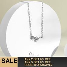 Thaya Dandelion Engagement Jewelry Sets 100% 925 Sterling Silver Zircon White Ri