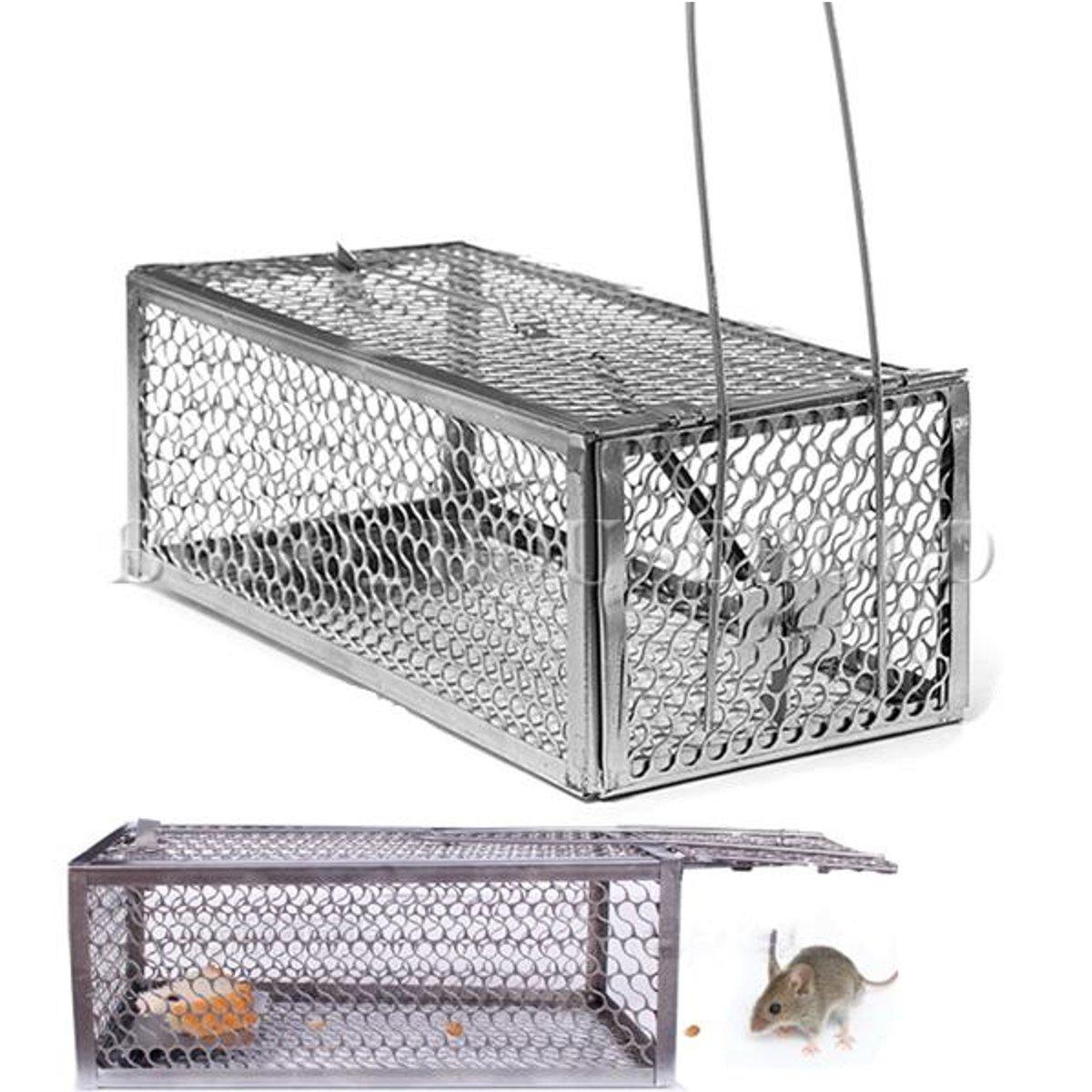 Huane Mouse Cage Mouse Trap High Sensitivity Rat Control Catcher Trap Pest Live Animal Catch Capture Hamster Gardening Supplies