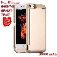 10000 мА/ч, Мощность чехол для iPhone 6 6s 7 plus чехол Батарея Зарядное устройство чехол для iPhone 6 6s 7 8 плюс Мощность Bank зарядное устройство чехол Мощность банка