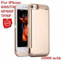 Funda de alimentación de 10000mah para iPhone 6 6s 7 plus funda de cargador de batería para iPhone 6 6s 7 8 Plus cargador de batería
