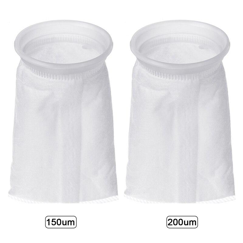 150/200 микрон фильтр носок 105x230мм фильтр носок мешок морской отстойник Войлок пре рыбы аквариума высокой плотности интерспейса