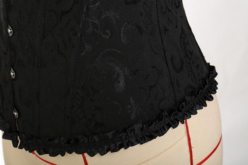 Corset fermeture éclair haut Bustier Sexy Noir