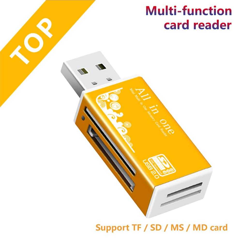 High Quality Mini USB 2.0 Card Reader For Micro SD Card TF Card Adapter Plug And Play Colourful Choose From For Tablet PC