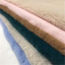 Imitation rabbit plush clothing fabric winter clothing fabric hug pillowcase winter cotton cloth lining accessories