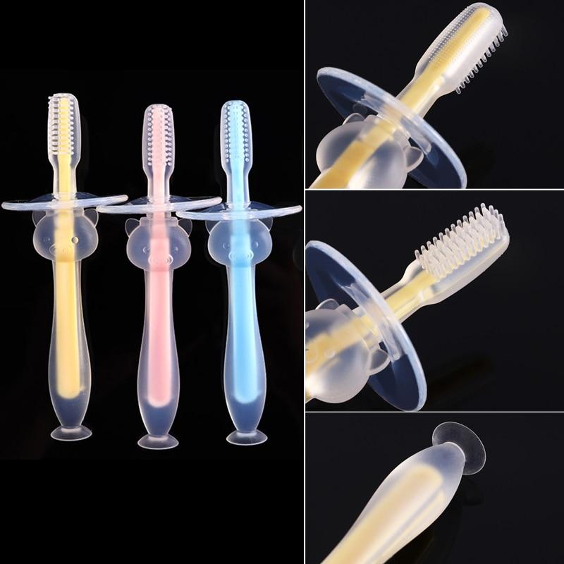 1PC enfants doux Silicone formation brosse à dents bébé enfants dentaire soins bucco-dentaires brosse à dents outil bébé enfant brosse à dents bébé articles