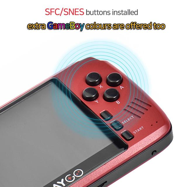 Przenośny kontroler do gier PLAYGO przenośna konsola do gier z ekranem 3.5 cala IPS do gier wideo wbudowana w ponad 1000 gier