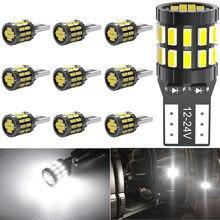 10pcs T10 W5W Car Led Canbus Light Bulbs For BMW F20 F30 X3 X4 X5 X6 MINI Cooper F60 Interior Reading Parking Lights No Error