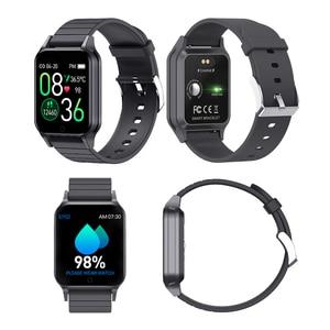 Image 5 - T96 temperatury ciała Smart Watch mężczyźni kobiety pulsometr pomiar ciśnienia krwi Bluetooth inteligentny dla Android IOS