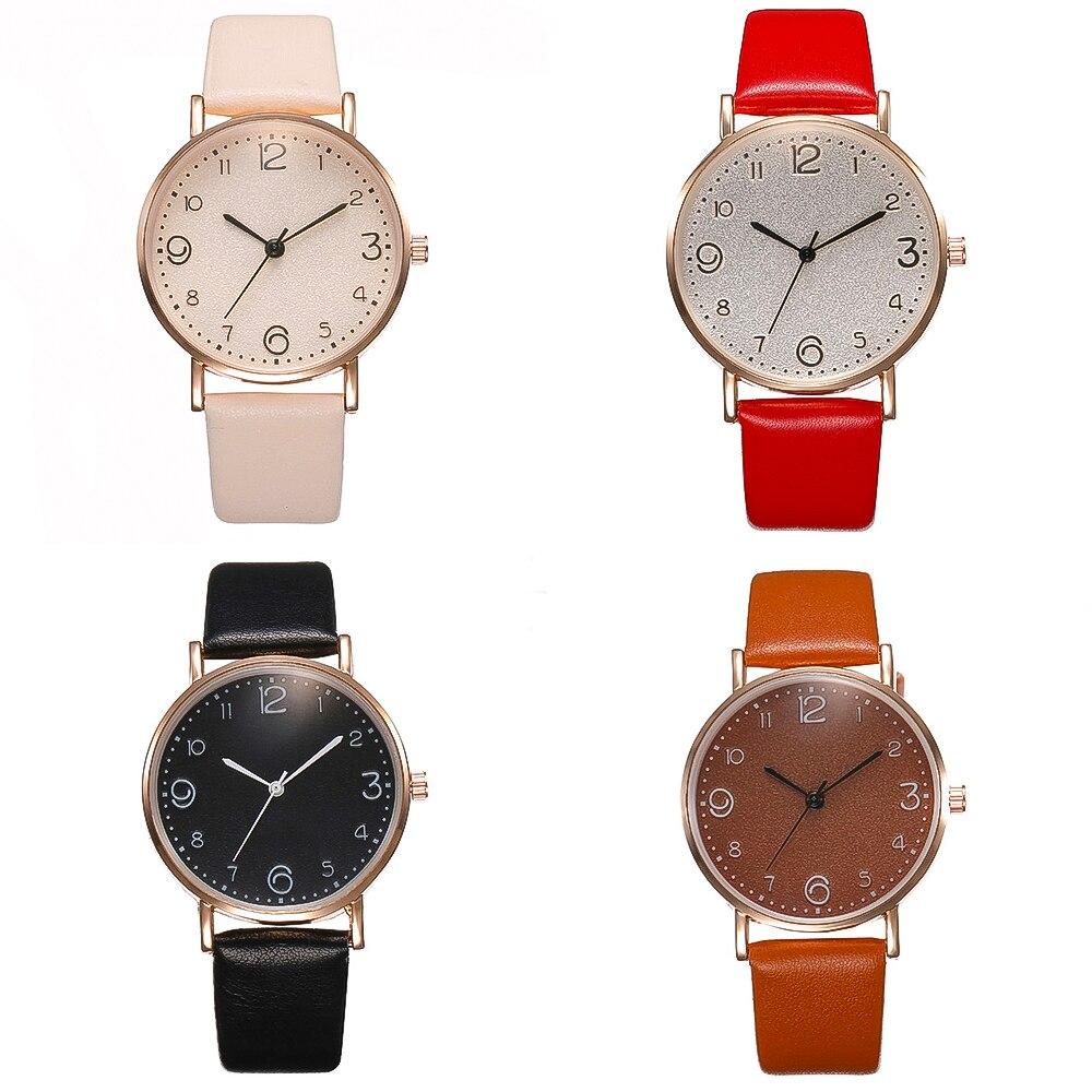 Top Style Fashion Women's Luxury Leather Band Analog Quartz Wrist Watch Golden Ladies Watch Women Dress Reloj Mujer Black Clock 1