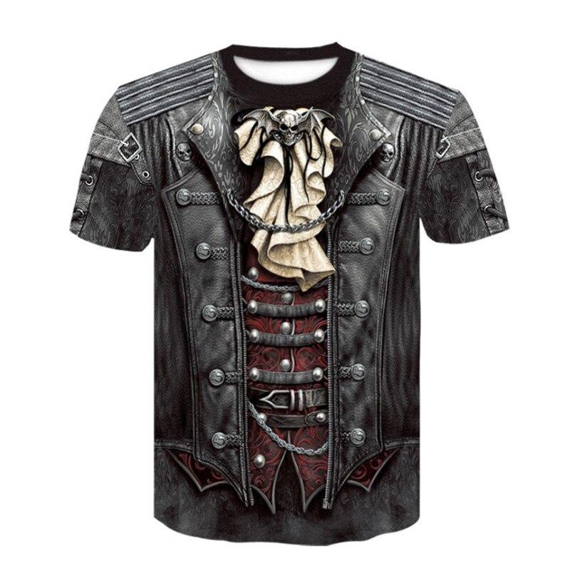 Novedad para Hombre//Mujer Camiseta Casual 3D En Blanco Y Negro Cr/áneo Impresi/ón Digital Cuello Redondo Manga Corta