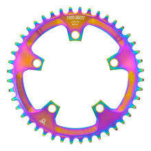 PASS QUEST 110 / 5 BCD 110BCD Titanium-plated Round Road Bike 38T-52T Narrow Wide Chainring Chainwheel For 3550 APEX